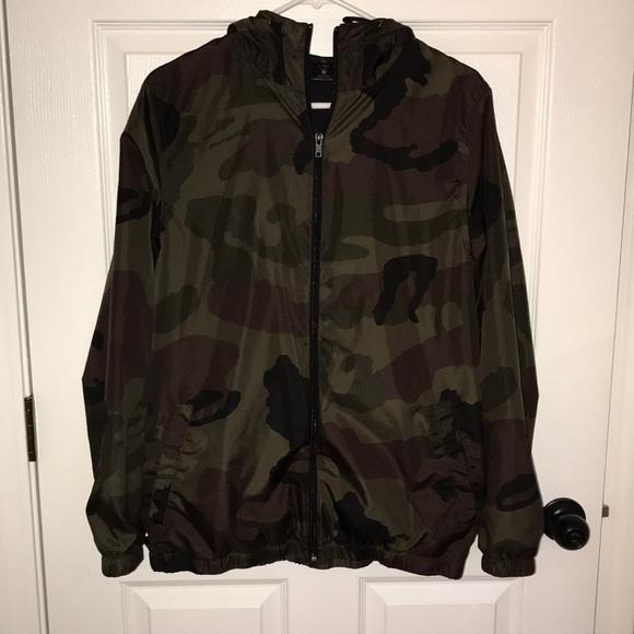 f240a72c0d5ab Zine Clothing Jackets & Coats   Zine Camo Rain Jacket   Poshmark